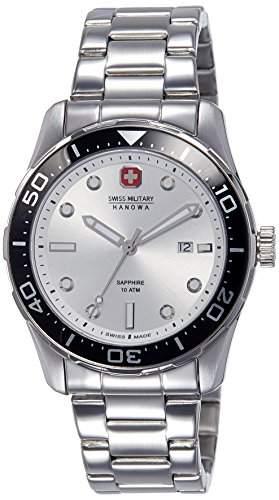 Swiss Military Hanowa Herren-Armbanduhr XL Analog Quarz Edelstahl 06-521304001