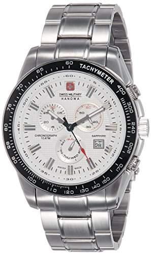 Swiss Military Hanowa Herren-Armbanduhr XL CRUSADER Chrono Analog Quarz Edelstahl 06-522504001