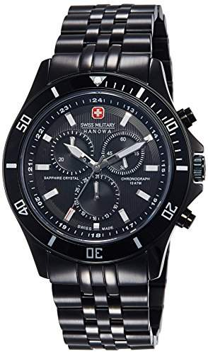 Swiss Military Hanowa Herren-Armbanduhr XL Flagship Chrono Analog Quarz Edelstahl beschichtet 06-5183713007