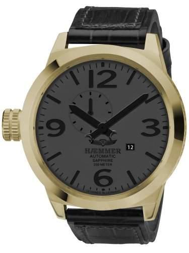 Haemmer Detroit Limited Herrenuhr schwarzgoldfarben HM-12