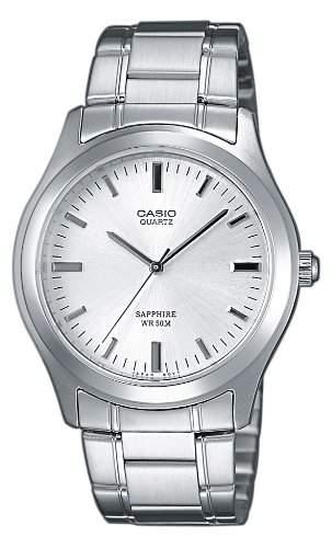 Casio Herren-Armbanduhr Analog Quarz Edelstahl MTP-1200A-7AVEF