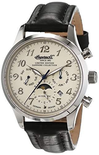 Ingersoll Herren-Armbanduhr Santa Anna Chronograph Automatik Leder IN1410WH