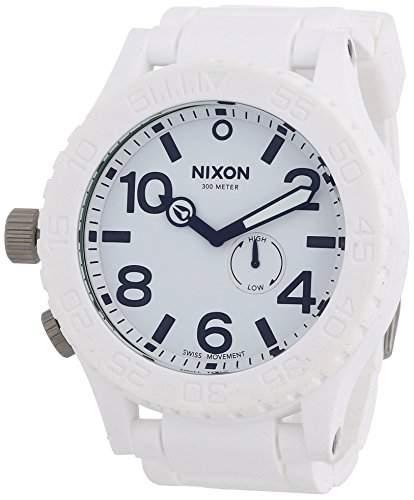 Nixon Herren-Armbanduhr XL The Rubber 51-30 White Analog Quarz Silikon A236100-00