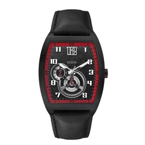 Guess Herren-Armbanduhr XL Analog Leder W13579G2