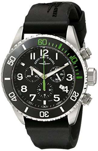 Zeno Divers Herren 46mm Chronograph Edelstahl Gehaeuse Datum Uhr 6492-5030Q-A1-8