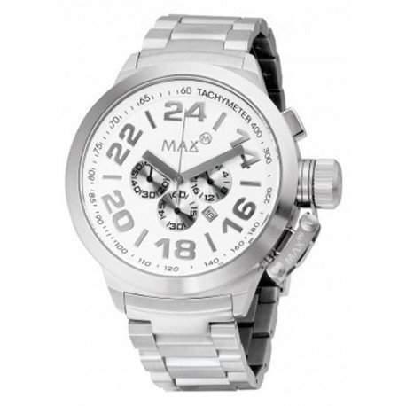 MAX XL Herren-Armbanduhr Analog edelstahl Silber 5-max460