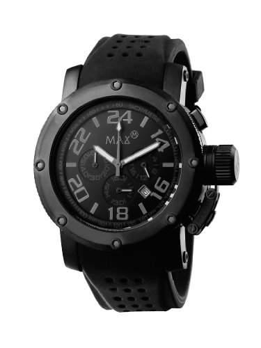 MAX XL Herren-Armbanduhr Analog Gummi Schwarz 5-max484