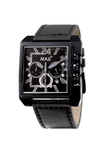MAX XL Herren-Armbanduhr Analog Quarz Leder 5-max527