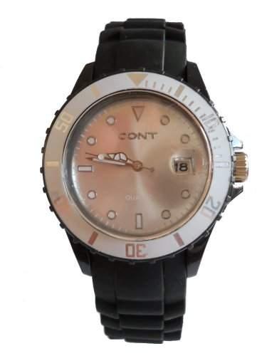 CONT Herren-Armbanduhr XL Analog Quarz Silikon RP3458210004