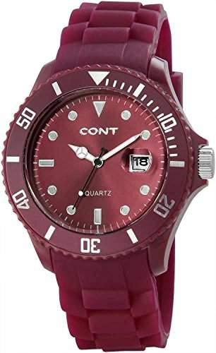 CONT Herren-Armbanduhr XL Analog Quarz Silikon RP3458510004