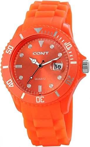 CONT Herren-Armbanduhr XL Analog Quarz Silikon RP3458590004
