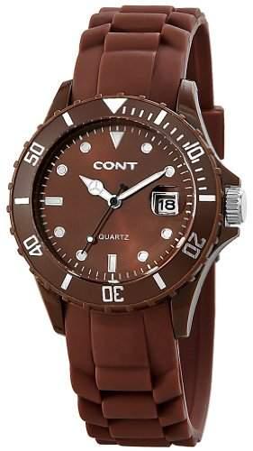CONT Damen-Armbanduhr Analog Quarz Silikon RP3458700002