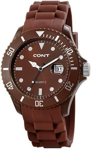 CONT Herren-Armbanduhr XL Analog Quarz Silikon RP3458700004