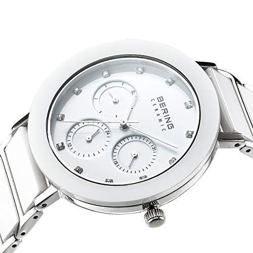 Bering Time Damen-Armbanduhr Analog Quarz Edelstahl beschichtet 11438-754