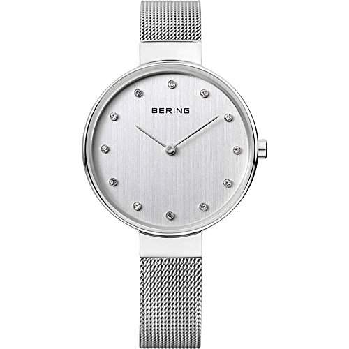 Bering Damen-Armbanduhr Analog Quarz Edelstahl 12034-000