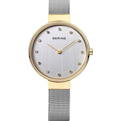 Bering Damen-Armbanduhr Analog Quarz Edelstahl 12034-010