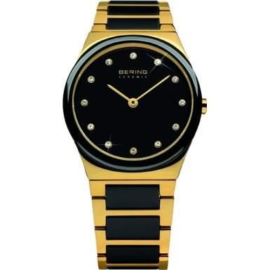 Bering Time Damen-Armbanduhr XS Ceramic Analog Quarz verschiedene Materialien 32230-741