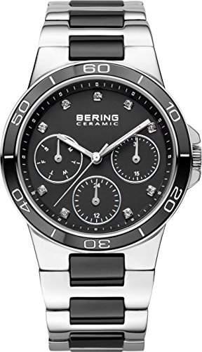 Bering Time Damen-Armbanduhr Part Ceramic Analog Quarz verschiedene Materialien 32237-AZ2