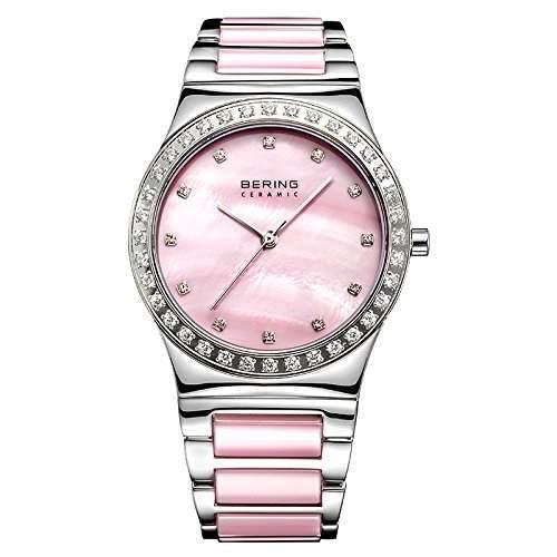 Bering Time Damen-Armbanduhr Analog Quarz Edelstahl beschichtet 32435-999