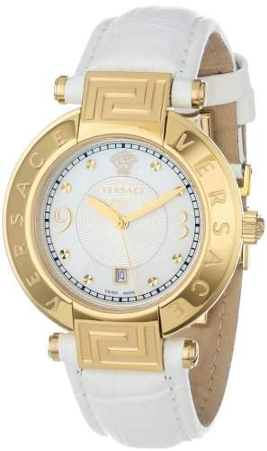 Versace Damen-Armbanduhr XS New Reve Analog Quarz Leder 68Q70D498S001