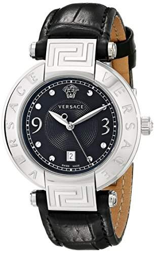 Versace Damen-Armbanduhr XS New Reve Analog Quarz Leder 68Q99D009S009