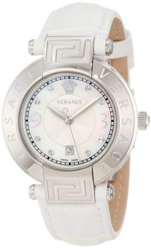 Versace Damen-Armbanduhr XS NEW REVE Analog Quarz Leder 68Q99D498S001