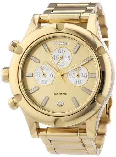 Nixon Damen-Armbanduhr Camden Chrono Chronograph Quarz Edelstahl beschichtet A3541219-00