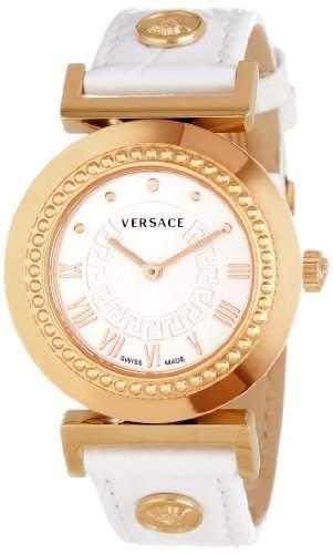 Versace Damen-Armbanduhr XS Vanity Analog Quarz Leder P5Q80D001S001