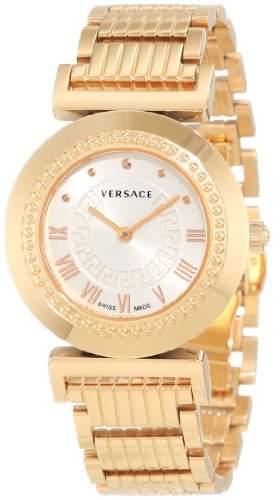Versace Damen-Armbanduhr XS Vanity Analog Quarz Edelstahl P5Q80D001S080
