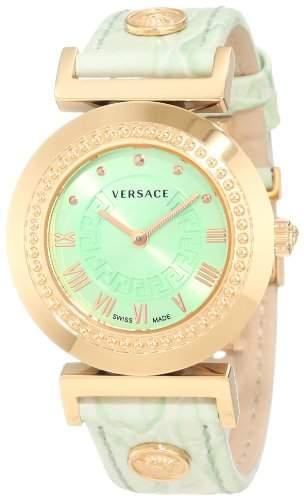 Versace Damen-Armbanduhr XS Vanity Analog Quarz Leder P5Q80D220S220