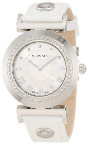 Versace Damen-Armbanduhr XS Vanity Analog Quarz Leder P5Q99D001S001