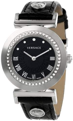 Versace Damen-Armbanduhr XS Vanity Analog Quarz Leder P5Q99D009S009