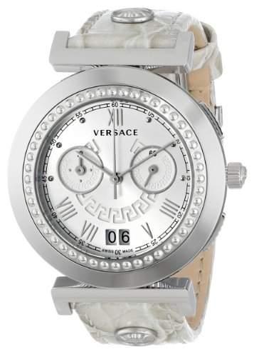 Versace Damen-Armbanduhr Vanity Chrono Chronograph Quarz Leder VA9020013