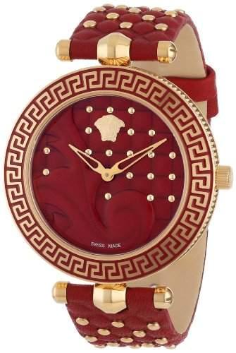 Versace Damen-Armbanduhr VANITAS Analog Quarz Leder VK7050013
