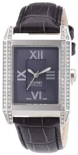 Esprit Collection Damen-Armbanduhr Xanthe Grey - Swiss Made Analog Quarz Leder EL101202S03