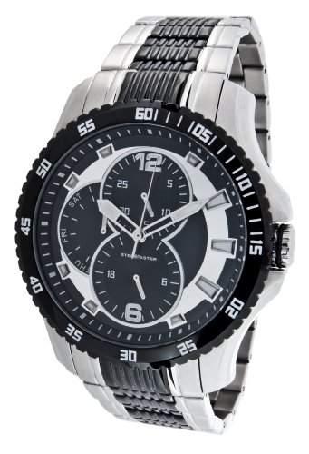 Steel Master Herren-Armbanduhr Chronograph Quarz Analog Edelstahl - CAP1103213E