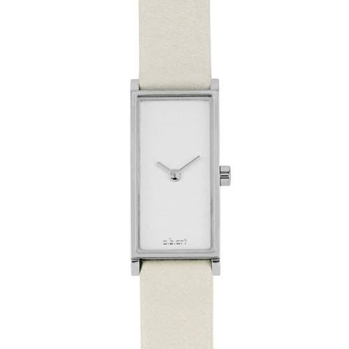 abart WomenQuarz-Uhr mit weissem Zifferblatt Analog-Anzeige und weisse Lederband I101