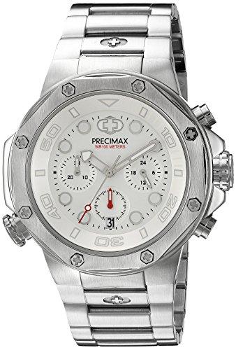 Precimax Herren px14003 Guardian Pro Analog Display Japanisches Quartz Silber Uhr