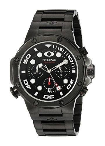 Precimax Herren px14006 Guardian Pro Analog Display Japanisches Quartz Black Watch