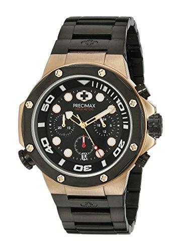 Precimax Herren px14007 Guardian Pro Analog Display Japanisches Quartz Black Watch