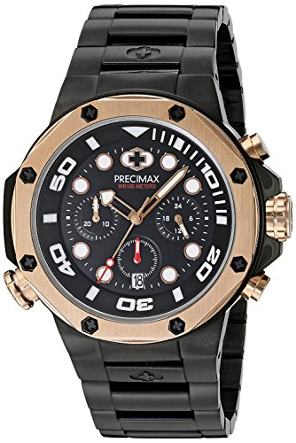 Precimax Herren px14008 Guardian Pro Analog Display Japanisches Quartz Black Watch