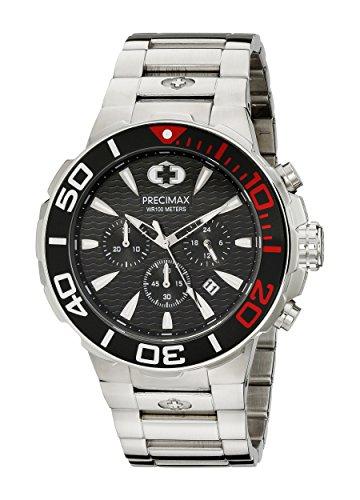 Precimax Herren px14013 Instinct Pro Analog Display Japanisches Quartz Silber Uhr