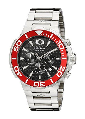 Precimax Herren px14014 Instinct Pro Analog Display Japanisches Quartz Silber Uhr