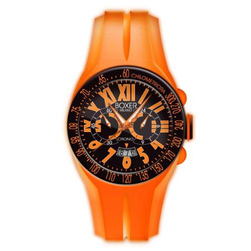 Boxer Milano Unisex Armbanduhr Chronograph Rubber Strap 48 CR oder Orange
