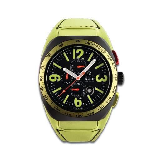 Avio Milano Herren-Armbanduhr BK 4806 Chronograph Leder Gruen BK 4806