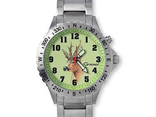 Greiner 1209-GFM Armbanduhr Motiv Rehbock