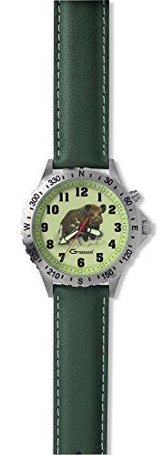 Greiner 1209 CF Armbanduhr Motiv Wildschwein