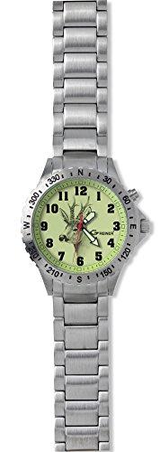 Greiner 1209 GHM Armbanduhr Motiv Rehbock