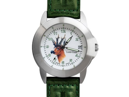 Greiner Lumitime Jagduhr Uhr Rehbock 2229 G