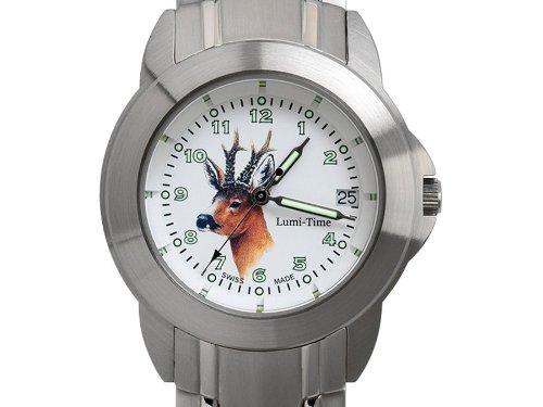 Greiner Lumitime Uhr Jagduhr Rehbock 2229 GS